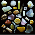 Pieces Sand grains under the microscope microscopic sand photography art photo microscopy artwork