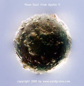 Moon Dust Sand grains microscope art photography photo microscopy artwork Apollo 11